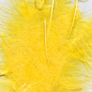 Yellow Feathers for Balloons - Eleganza 50g Bag
